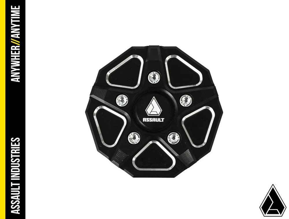 Assault Industries 3 Piece Aluminum Gas Cap Black Polaris RZR | Slingshot | General - 201005BA1101