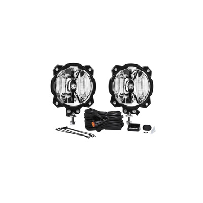 KC HiLiTES Gravity LED Pro6 Single Pair Pack System Wide-40 Beam  #91305 - 91305