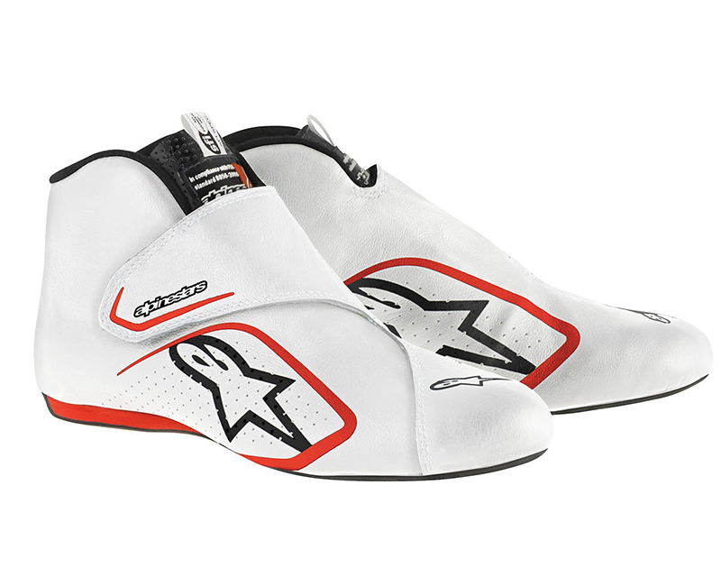 Alpinestars White and Red Supermono Racing Shoes EU 40.5 | US 8 - 2716115-23A-8