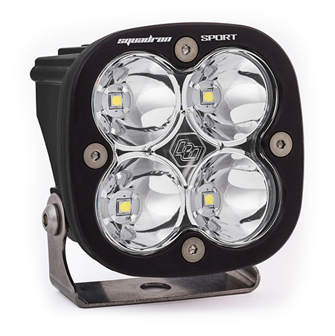 Baja Designs LED Light Pod Spot Pattern Clear Black Squadron Sport - 550001