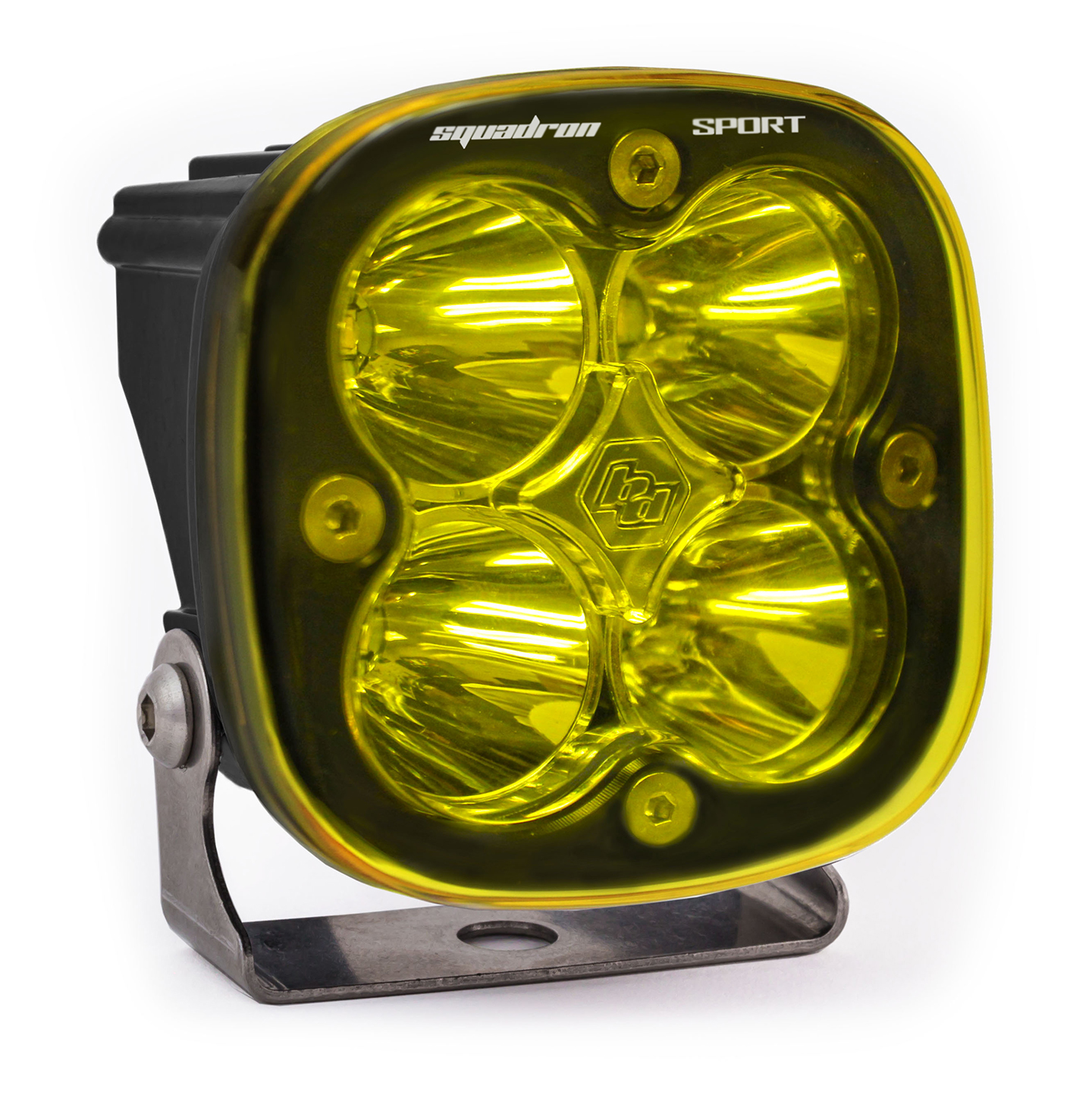 Baja Designs LED Light Pod Spot Pattern Clear Amber Black Squadron Sport - 550011