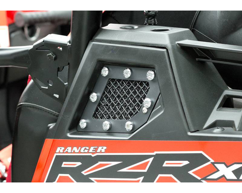 2011-2013 Polaris RZR XP 900 X-Metal Side Vent, Black, 2 Pc, Replacement, Chrome Studs - PN #6749001 - 6749001