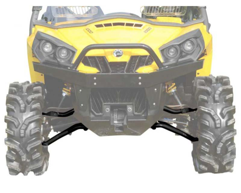 SuperATV High Clearance 1.5 Inch Forward Offset A Arms Black Can-Am Commander 1000 2011+ - AA-CA-COM-HC-002-02