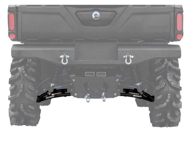 SuperATV High Clearance Lower Rear A Arms Black Can-Am Defender HD 5 2017+ - AA-CA-DEF-R-HC-02
