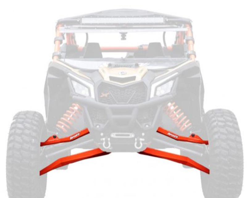 SuperATV High Clearance Boxed Front A Arms Red 72 Inch Wide Can-Am Maverick X3 X RC Turbo R 2018+ - AA-CA-X3RS-001-BX-14