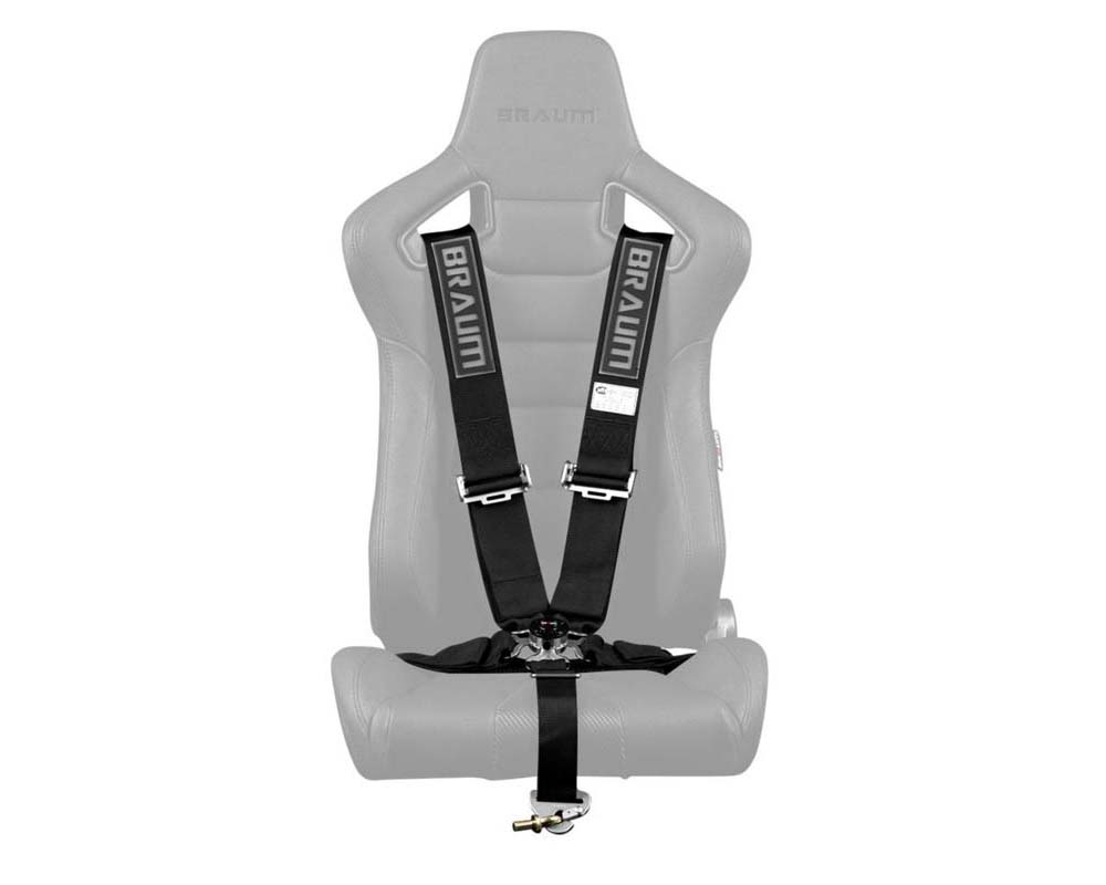 "Braum Racing 5 Point 3"" SFI Approved Racing Harness - Black - BRH-BKS5"