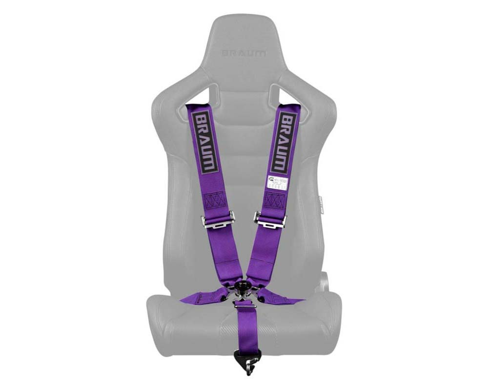 "Braum Racing 5 Point 3"" SFI Approved Racing Harness Purple - BRH-PUS5"
