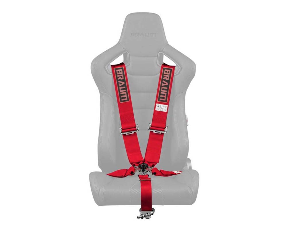 "Braum Racing 5 Point 3"" SFI Approved Racing Harness - Red - BRH-RDS5"