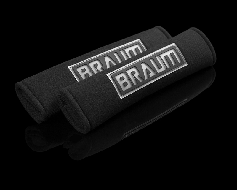 "Braum Racing Black 2"" Shoulder Pads - BRHP-2BLK"