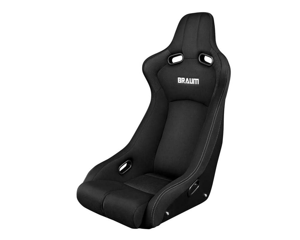 Braum Racing Venom-R Series Fixed Back Bucket Seat - Black Cloth|Carbon Fiber - BRR7-BKFB