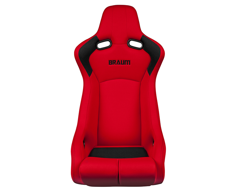 Braum Racing Venom-R Series Fixed Back Bucket Seat - Red Cloth|Carbon Fiber - BRR7-RDFB