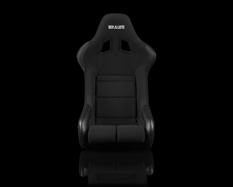 Braum Racing FIA Approved Falcon Series Fixed Back Racing Seat - Black Cloth - BRR9-BKBC
