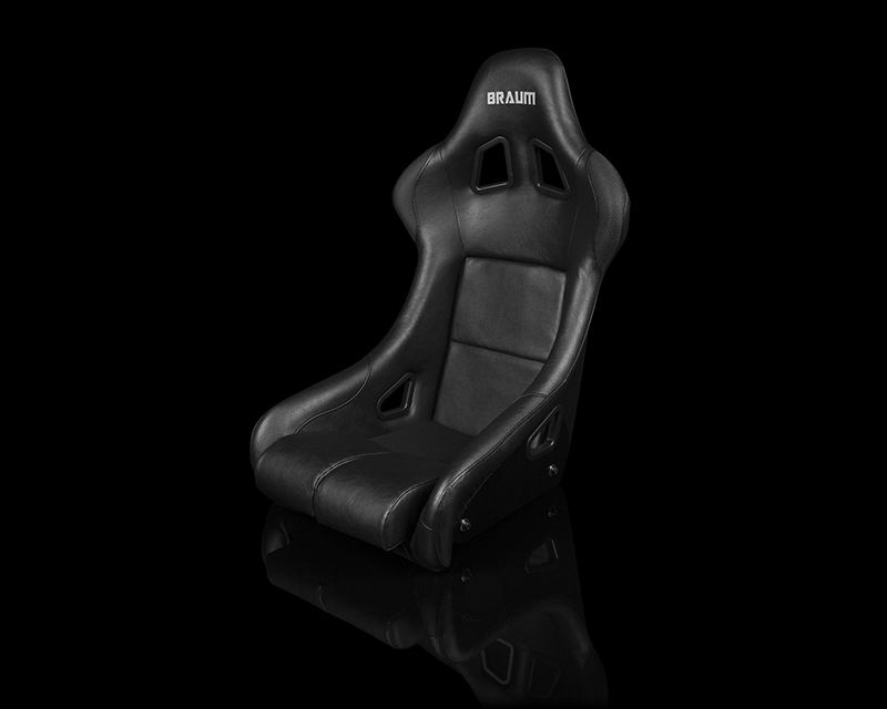Braum Racing FIA Approved Falcon Series Fixed Back Racing Seat Black Leatherette - BRR9-BKBK