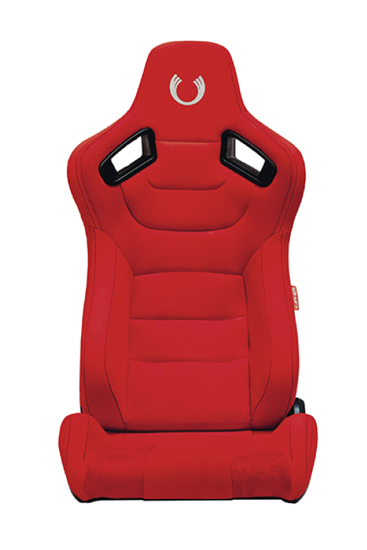Cipher Auto Red Suede|Fabric Carbon Fiber PU AR-9 Revo Racing Seats - Pair - CPA2009CFSDRD