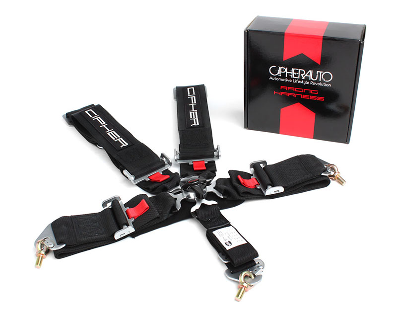 Cipher Auto Black 5 Point Camlock Racing Harness - Single - CPA4005BK