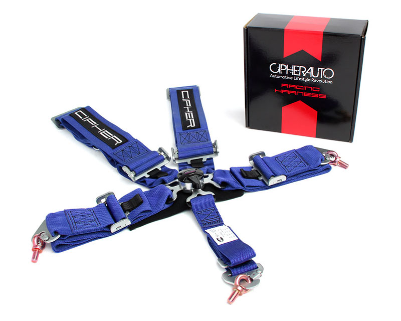 Cipher Auto Blue 5 Point Camlock Racing Harness - Single - CPA4005BL