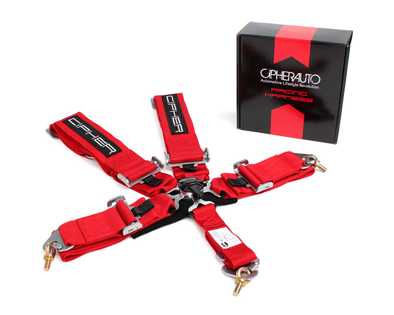 Cipher Auto Red 5 Point Camlock Racing Harness - Single - CPA4005RD