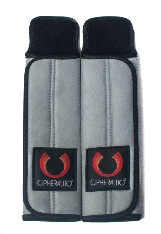 """Cipher Auto Grey 3"""" Inches Harness Pads - Set - CPA8001RHP-GY"""