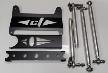 CT Race Worx Gusset Kit, Race Tie Rod and Race Radius Rod Combo Kit - Octane Blue - Can-Am Maverick | Maverick Max | Maverick XDS | XRS Turbo 13-18 - CT-MAV-9040-6