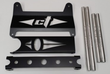 CT Race Worx XDS 2016 and Newer Maverick Gusset Kit, Replacement Tie Rod and Radius Rod Combo Kit - Silver - Can-Am Maverick XDS | XRS 16-18 - CT-MAV-9060-5