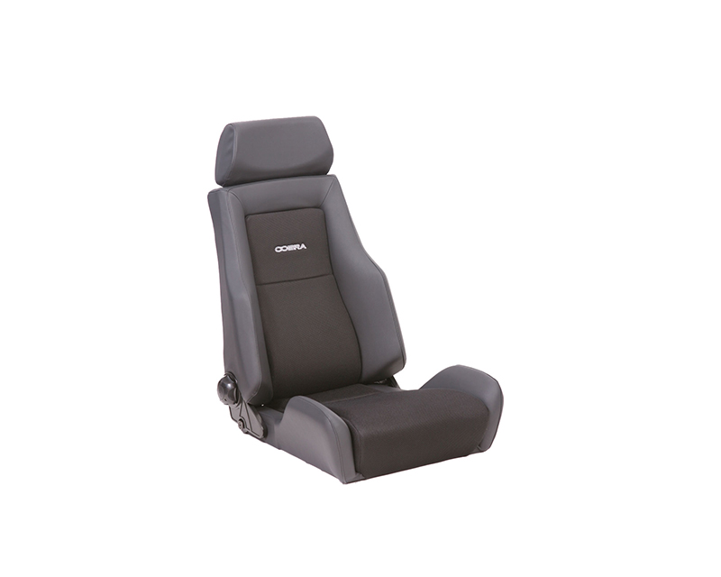 Cobra Lemans Heritage Reclining Seat - Black Leather all over - C LMS-HERT-L-M-BK