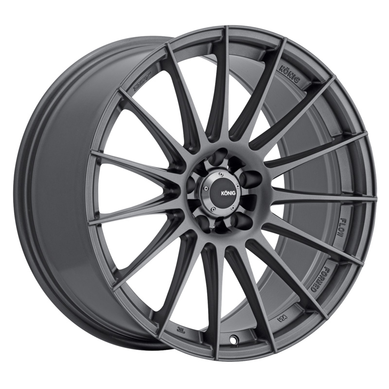 Konig Rennform Matte Grey Wheel 18x9 5x114.30 40 - RF9851440G