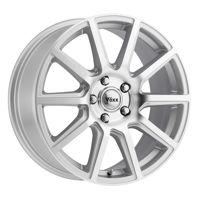 Voxx Mille Silver Machined Face Wheel 17x7.5 5x100.00/114.30 40 - MLE 775-5001-40 SMF