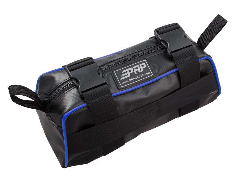 Baja Bag Black With Blue Piping Vinyl Coated Nylon PRP Seats - E10-I