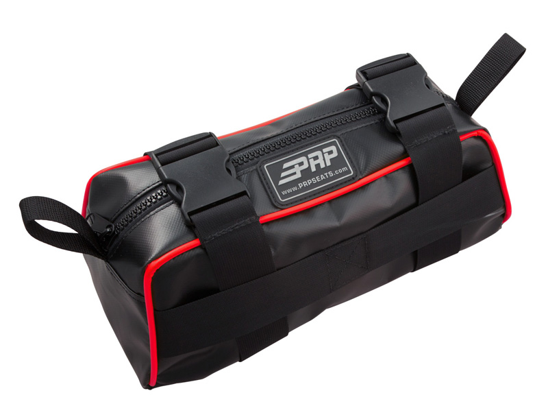 Baja Bag Black With Red Piping Vinyl Coated Nylon PRP Seats - E10-L