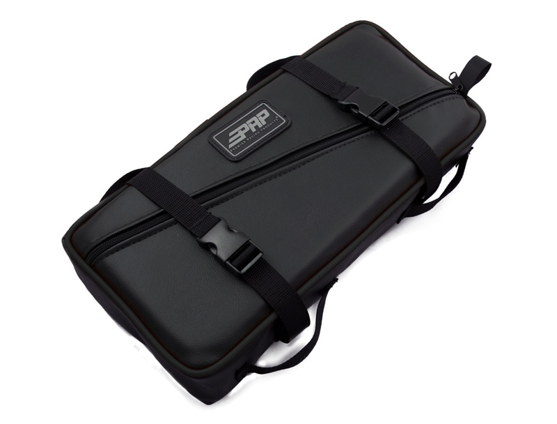 Low Profile Tool Bag Black With Black Piping Vinyl Coated Nylon PRP Seats - E11-223