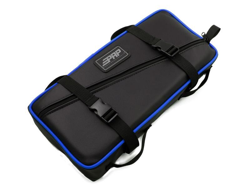 Low Profile Tool Bag Blue With Silver Piping Vinyl Coated Nylon PRP Seats - E11-I