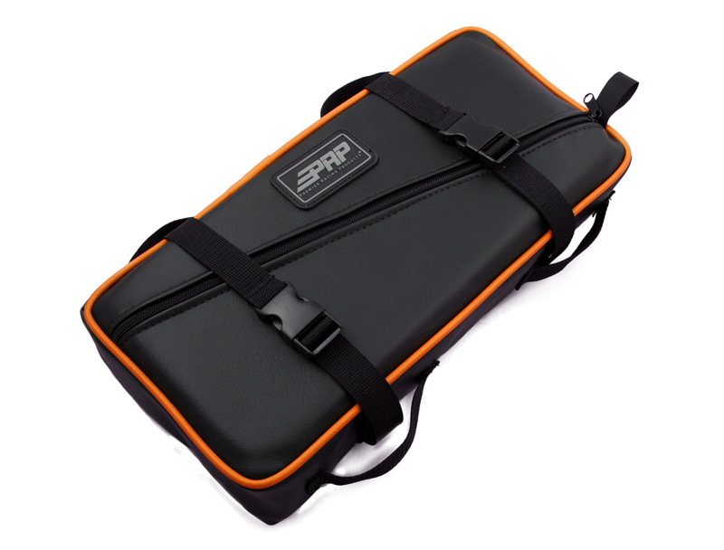 Low Profile Tool Bag Black With Orange Piping Vinyl Coated Nylon PRP Seats - E11-O