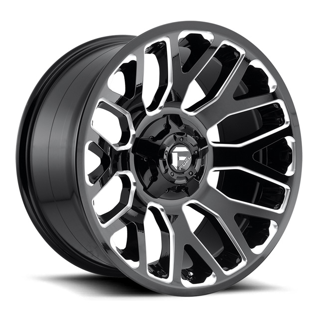 Fuel Gloss Black Milled Warrior D607 Wheel20x10 6x135 -18mm - D60720009847