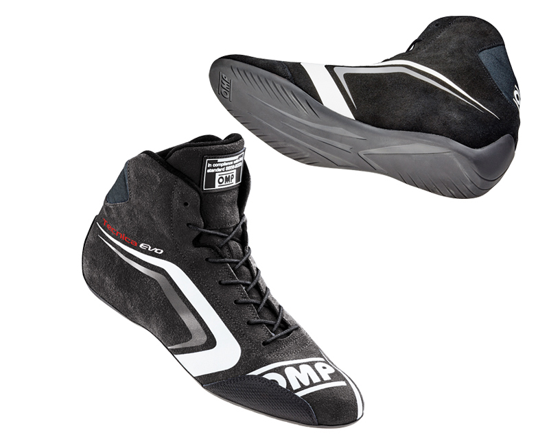 OMP Racing Black Tecnica Evo Racing Shoes US 12.5/13 | EU 46 - IC/803E07146