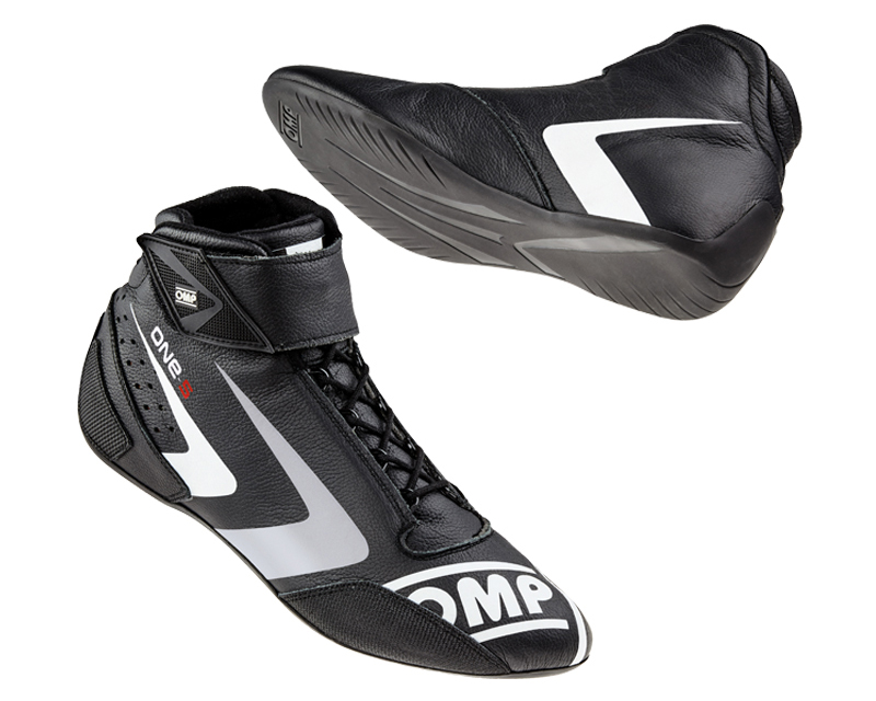 OMP Racing Black One-S Evo Racing Shoes US 14.5/15 | EU 48 - IC/80707148