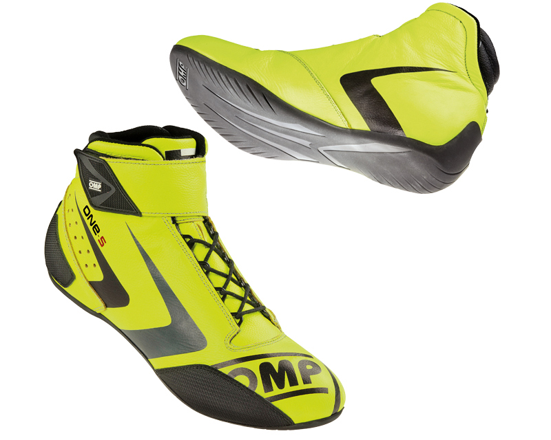 OMP Racing Fluorescent Yellow One-S Evo Racing Shoes US 12.5/13 | EU 46 - IC/80709946
