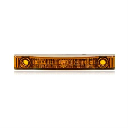 """XTC Power Products Thin Line Amber 4"""" 7 LED's P2PC - LED-4IN-AMB"""
