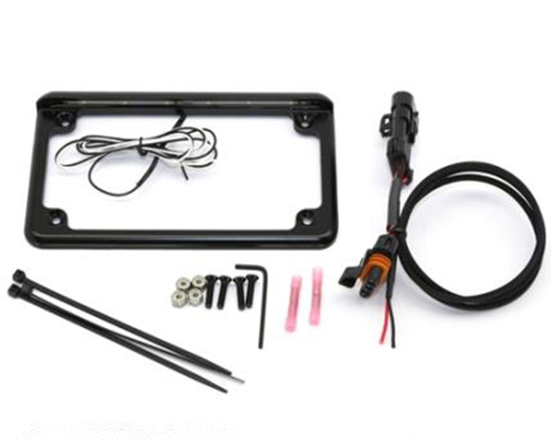 """XTC Power Products Plug and Play Power Adapter with 6"""" 6 LED License Plate Frame Polaris RZR XP 1000 2014-2018 - LF-6BK-15RZR"""
