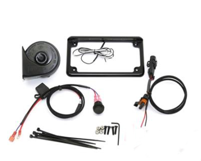 """XTC Power Products Plug and Play Power Adapter with 6"""" 6 LED License Plate Frame and Horn Kit Polaris RZR XP 1000 2014-2018 - LF-6BK-15XP-HK"""