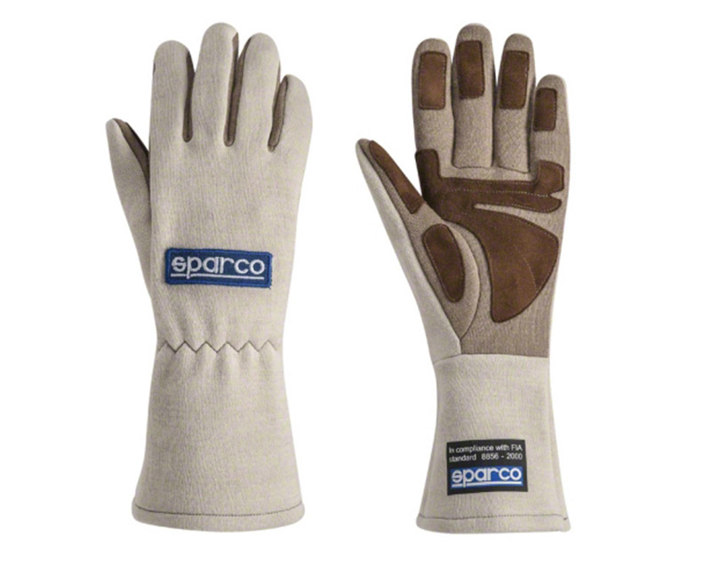Sparco Land Classic Ecru Racing Gloves | XS - 00130408EC