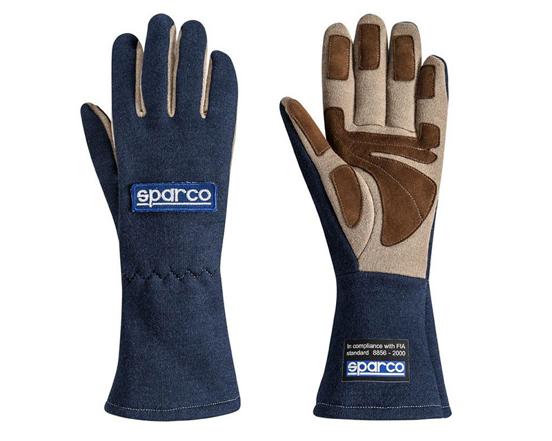 Sparco Land Classic Navy Racing Gloves | XS - 00130408BM