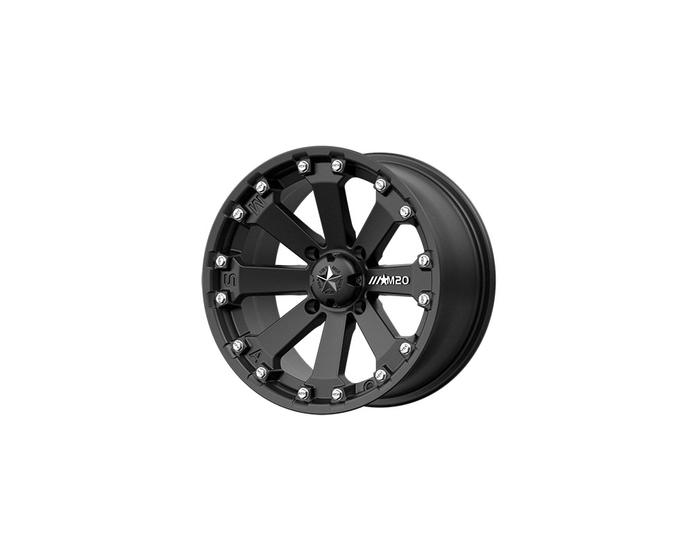 MSA Offroad Wheels M20 KORE Wheel 14x7 4x4x110 -52mm Satin Black - M20-14710