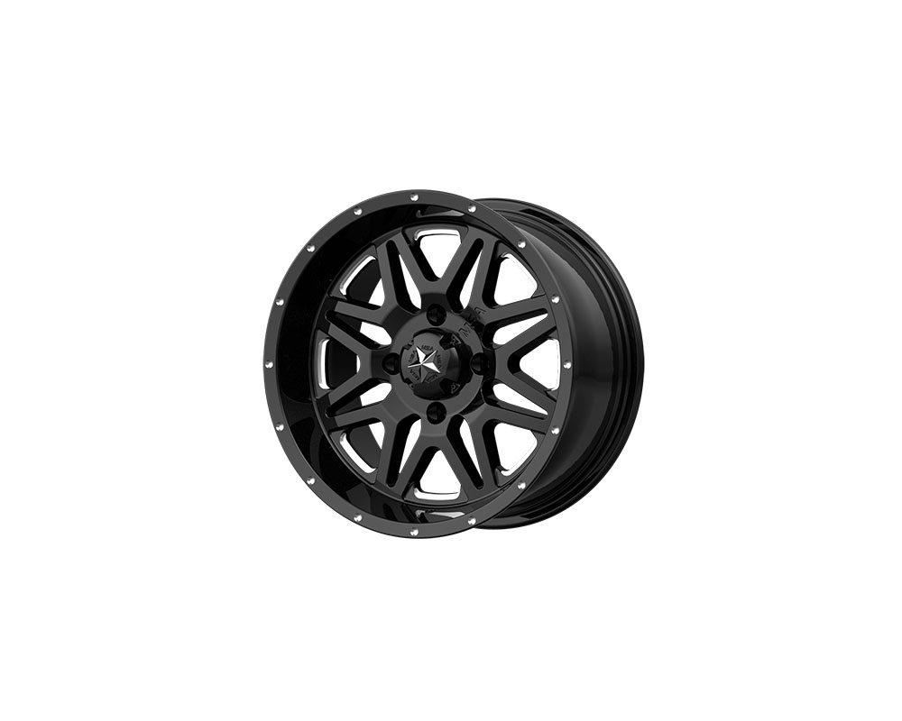 MSA Offroad Wheels M26 Vibe Wheel 14x7 4x4x137 +0mm Milled Gloss Black - M26-04737M