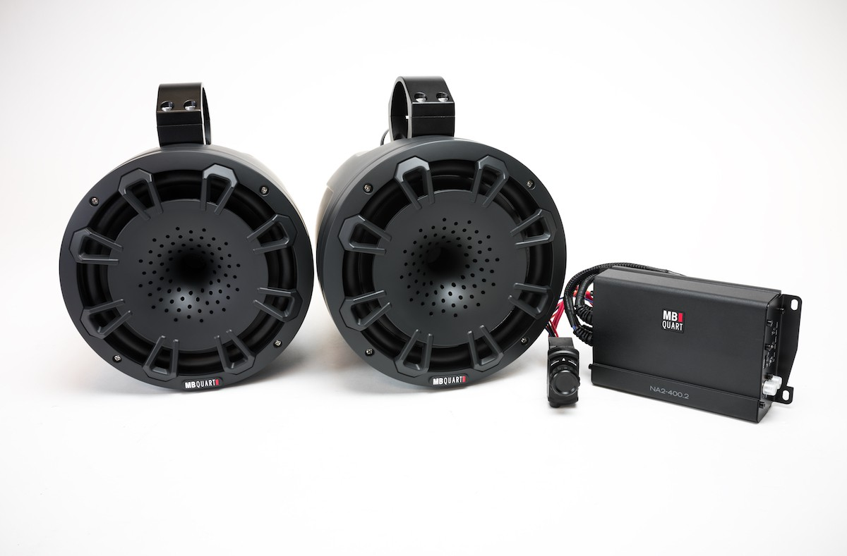 MB Quart UTV Tuned Audio Package: Two Speaker 400 Watt Stage 2 Audio System - MBQ-UNI8-1