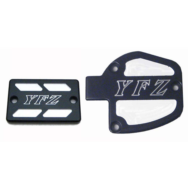 ModQuad Throttle &  Brake Cover Set - Black w/Logo - TSET1-YBLK-07