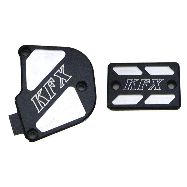 ModQuad Throttle &  Brake Cover Set - Black w/Logo KFX - TSET6-KBLK