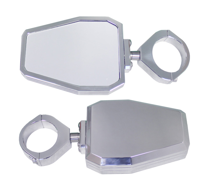 ModQuad Side Mirror Set - Billet - TX-SIDE