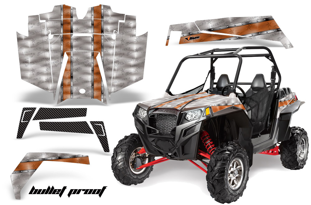 AMR Racing  Full Custom UTV Graphics Decal Kit Wrap Bullet Proof Polaris RZR XP 900 11-14 - POL-RZR900XP-11-14-BP