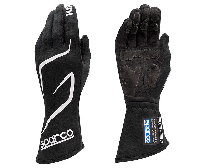Sparco Land RG-3.1 Black Racing Gloves | XL - 00130812NR