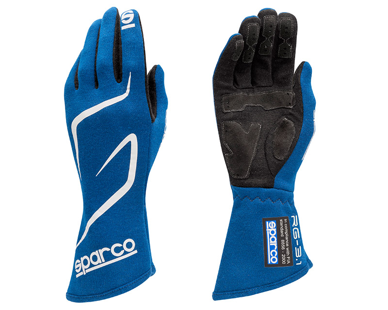 Sparco Land RG-3.1 Blue Racing Gloves | MED - 00130810AZ